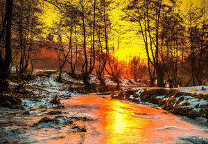 Winter Forest Painting - 0326 - Wall Murals Printing - wall art