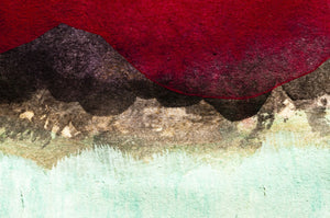 Abstract Mountain painting - 036 - Wall Murals Printing - wall art