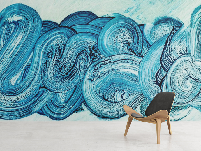 Abstract Blue Wall Murals  - 0343 - Wall Murals Printing - wall art