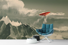 Red Plane Painting  - 0336 - Wall Murals Printing - wall art