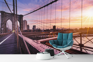 Bridge with sunset - 0148 - Wall Murals Printing - wall art