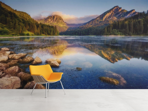 Lake & Mountains sunset - 02126 - Wall Murals Printing - wall art