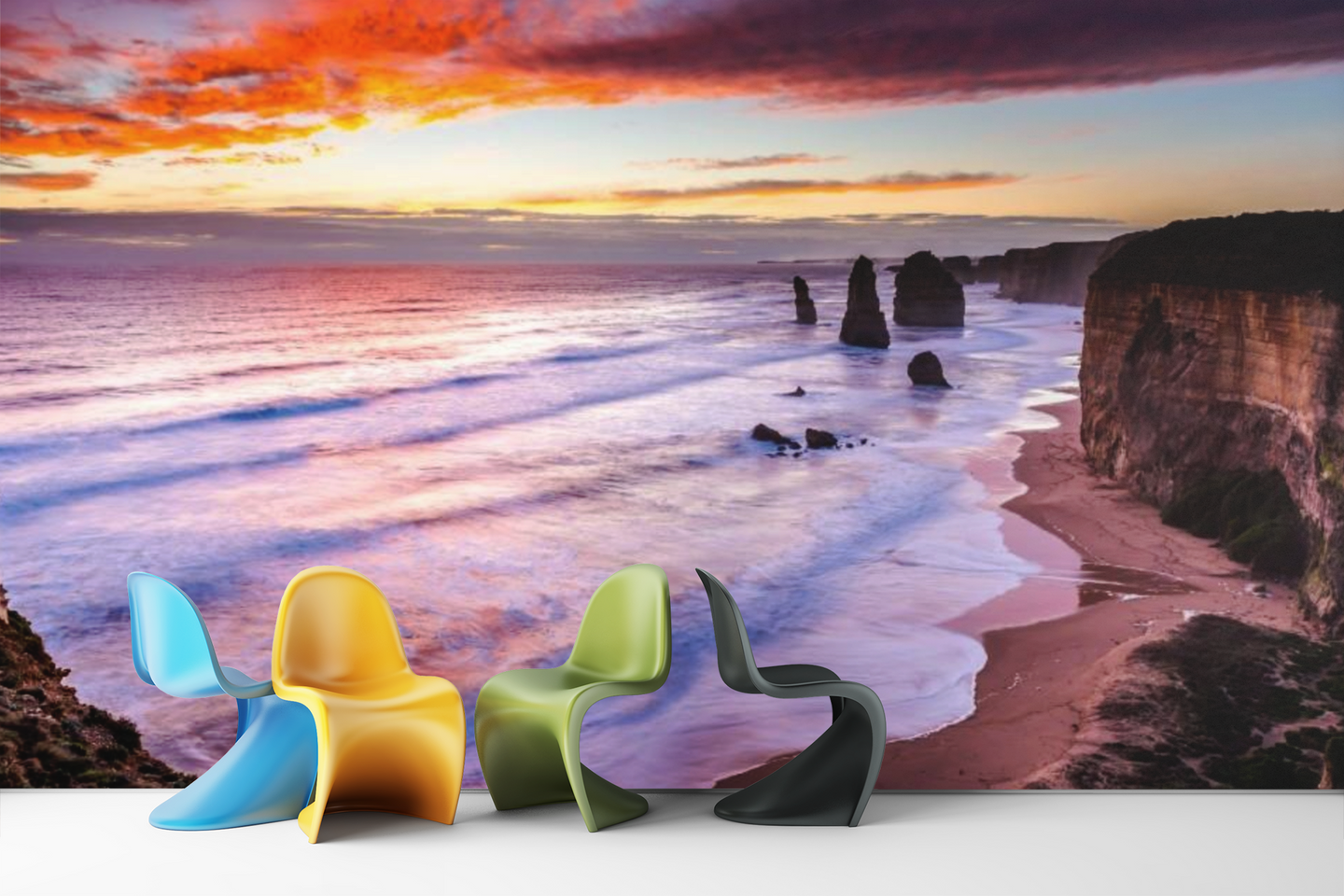 Sunset on the Beach  - 02178 - Wall Murals Printing - wall art
