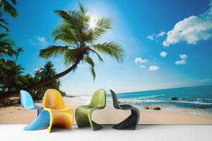 Beach With Palm Trees - 025 - Wall Murals Printing - wall art