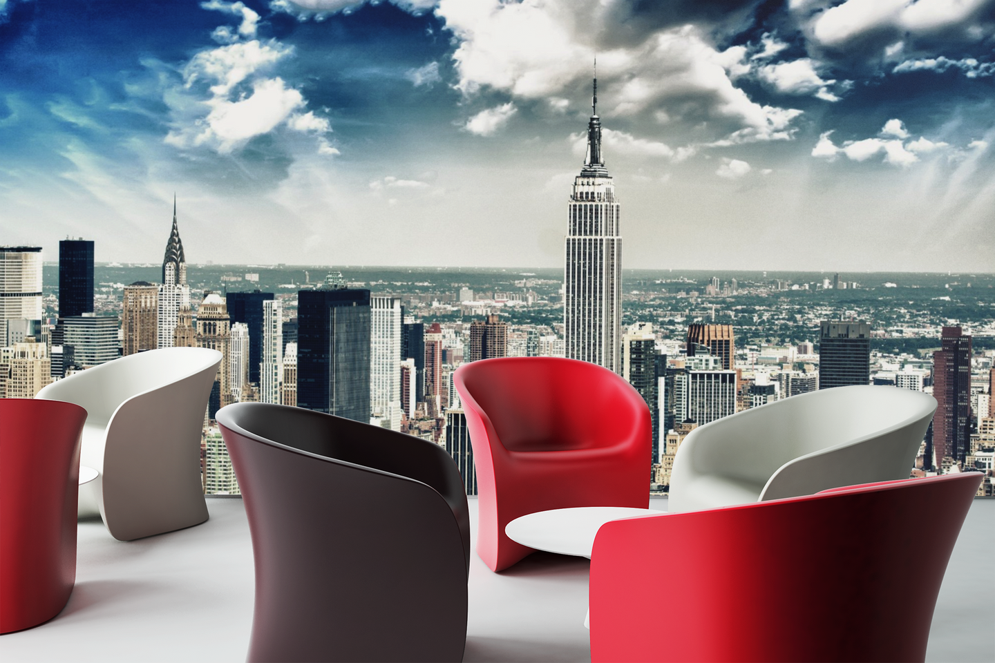 Beautiful cloud in New York - 0115 - Wall Murals Printing - wall art