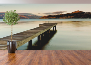 Dock by the Lake - 0217 - Wall Murals Printing - wall art