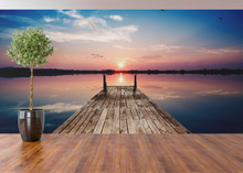 Dock by the lake Sunset - 02109 - Wall Murals Printing - wall art