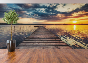 Sunset from the Dock  - 02169 - Wall Murals Printing - wall art
