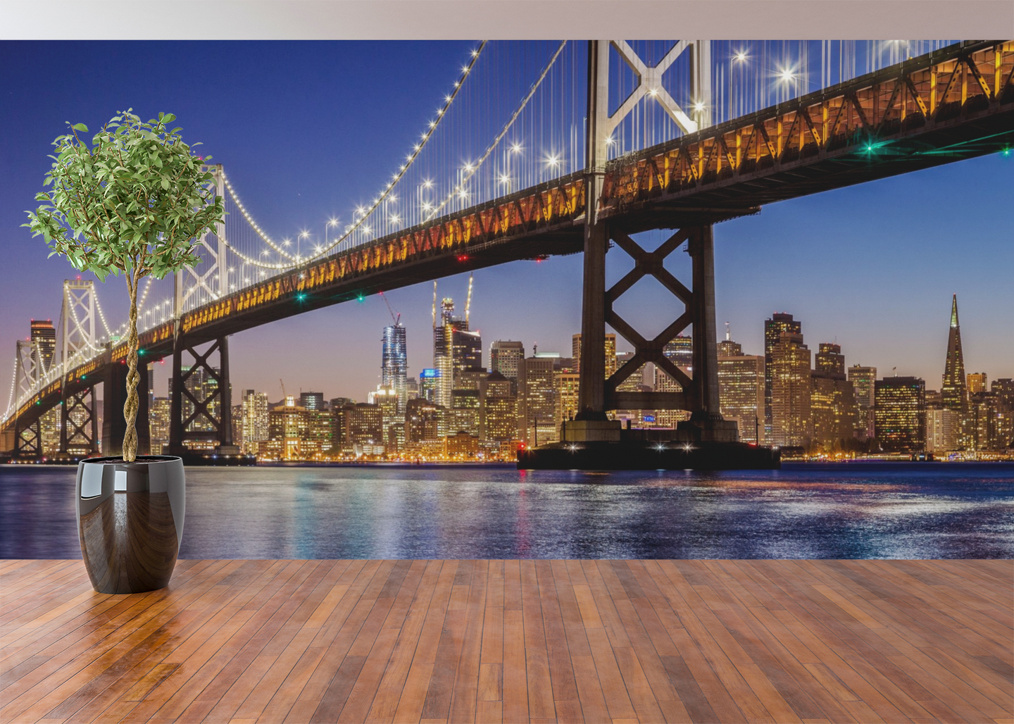 Bridge at Night  - 01154 - Wall Murals Printing - wall art