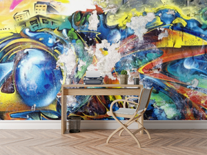Abstract Graffiti Wall Mural - 0329 - Wall Murals Printing - wall art