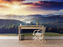 Sunset with Mountains - 0210 - Wall Murals Printing - wall art
