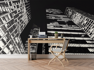 Black & White Building - 0193 - Wall Murals Printing - wall art