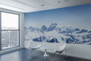 Snow Mountain Panoramic - 0289 - Wall Murals Printing - wall art