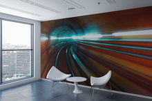 Train Light Painting  - 0338 - Wall Murals Printing - wall art