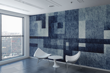 Blue Abstract Square  - 0351 - Wall Murals Printing - wall art