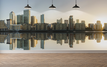City by the River Reflexion  - 01122 - Wall Murals Printing - wall art