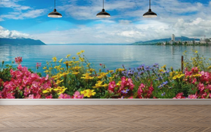 Flowers panoramic - 02114 - Wall Murals Printing - wall art