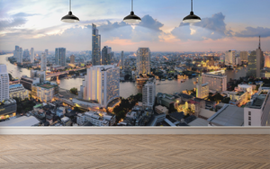 Modern City Panoramic  - 01134 - Wall Murals Printing - wall art