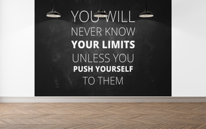 Push yourself Quote  - 056 - Wall Murals Printing - wall art