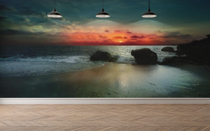 Sunset by the Sea - 0288 - Wall Murals Printing - wall art