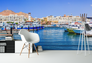 City Boat Dock - 01155 - Wall Murals Printing - wall art