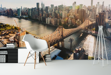 Aerial View City & Bridge Wall Mural - 01157 - Wall Murals Printing - wall art