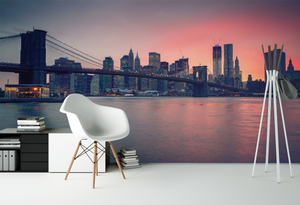 Sunset in the City - 013 - Wall Murals Printing - wall art