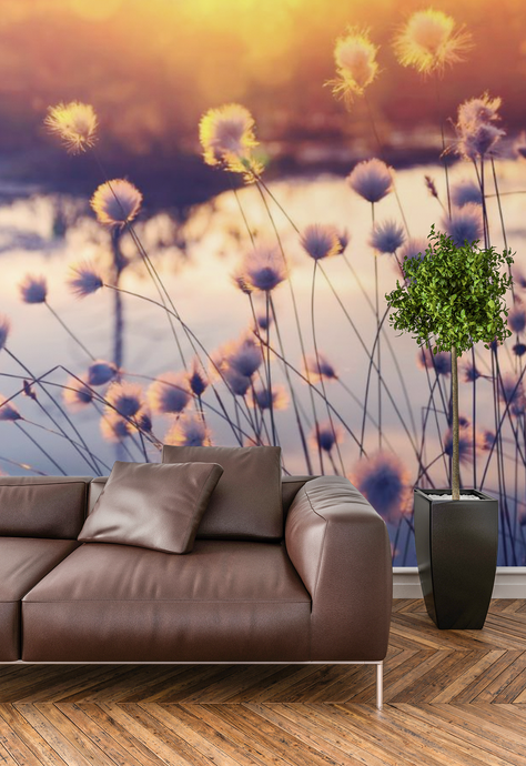 Flowers by the water  - 02231 - Wall Murals Printing - wall art
