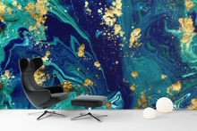 Blue Abstract Painting  - 0337 - Wall Murals Printing - wall art