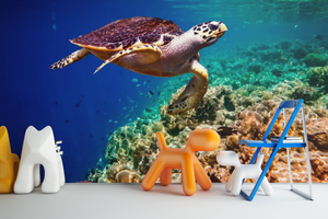 Turtle in the Sea - 0292 - Wall Murals Printing - wall art