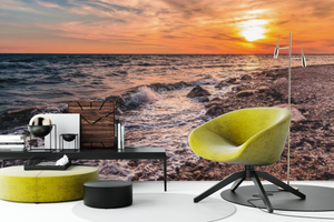 Sunset on the Beach  - 02235 - Wall Murals Printing - wall art