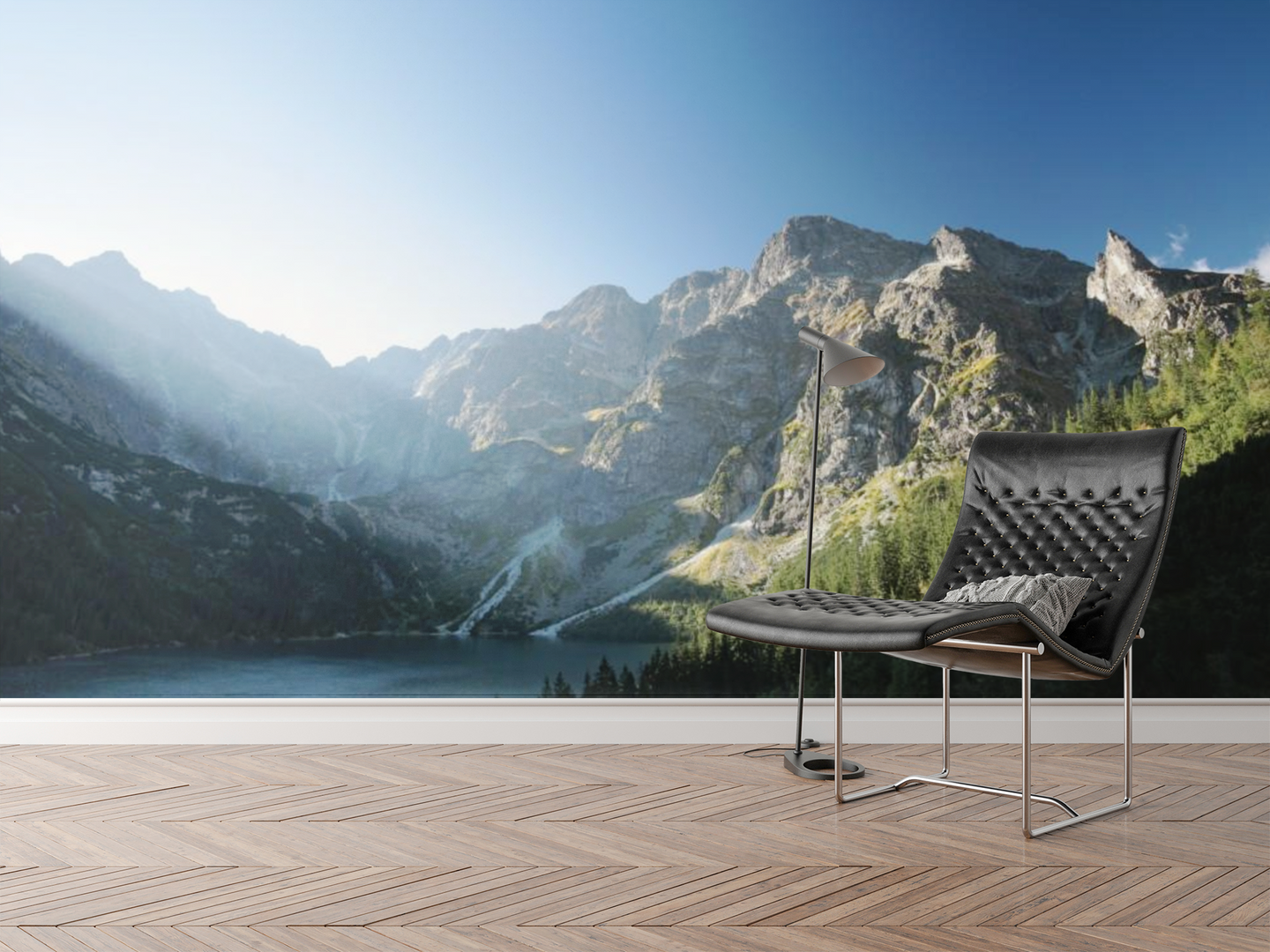 Foggy Lake & Mountains - 0281 - Wall Murals Printing - wall art