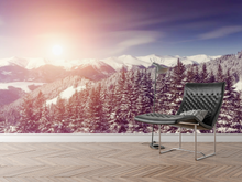 Snow Sunset - 0239 - Wall Murals Printing - wall art