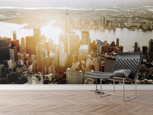Sunset City From sky - 0188 - Wall Murals Printing - wall art