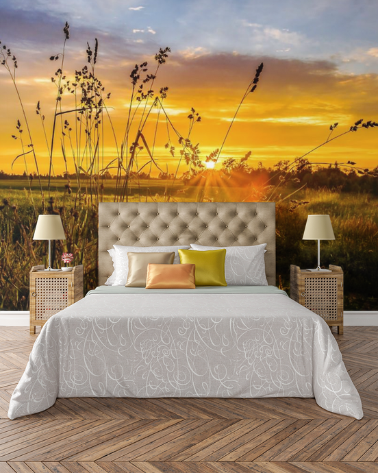 Sunset on the Field  - 02226 - Wall Murals Printing - wall art