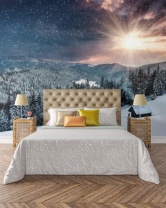 Beautiful Cottage Sunset - 0291 - Wall Murals Printing - wall art