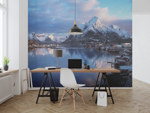 Village by the mountains  - 02234 - Wall Murals Printing - wall art