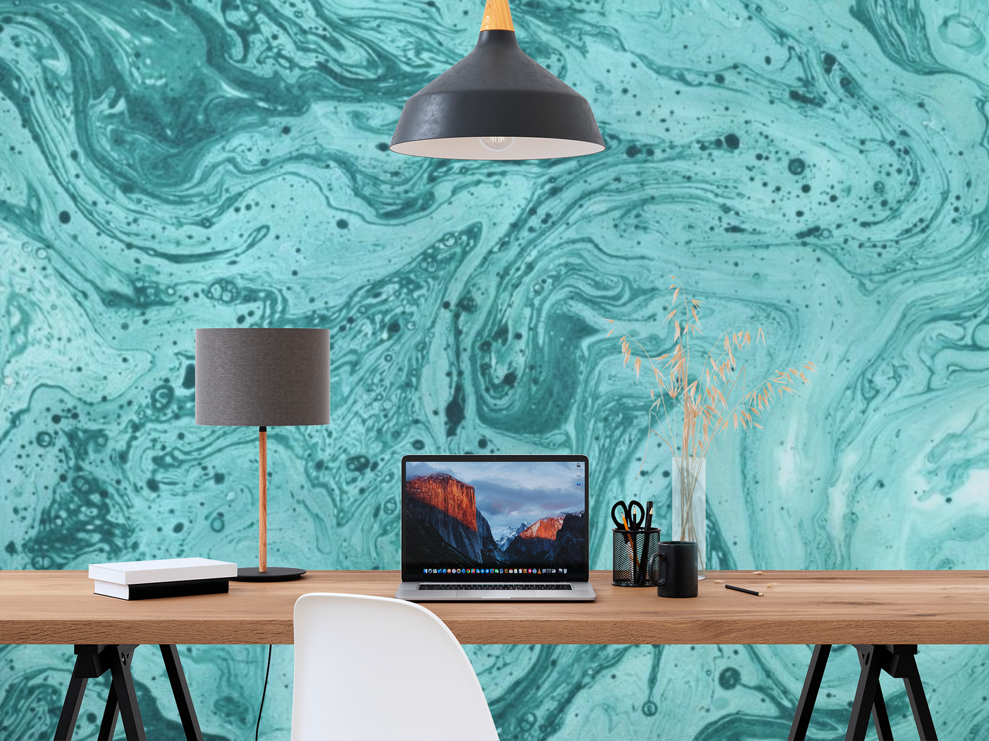 Abstract Blue Painting 2 - 0344 - Wall Murals Printing - wall art