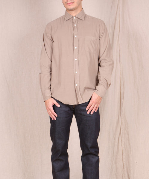 Hartford-Baby Cord Button down // KHAKI
