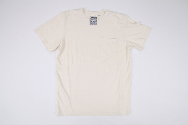 Jungmaven-Baja Pocket Tee // WASHED WHITE