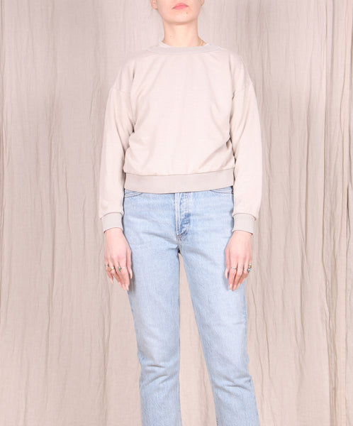 Jungmaven-Yakama Cropped Sweatshirt // Canvas