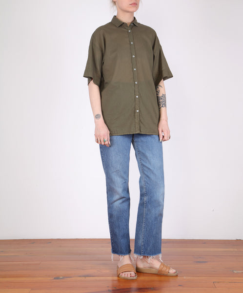 Hartford-Clock S/S Button Down Cotton Voile