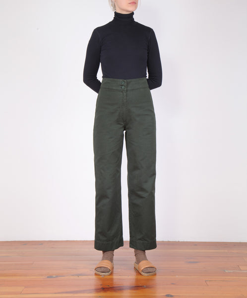 Ali Golden-Cotton Fly Front Pant