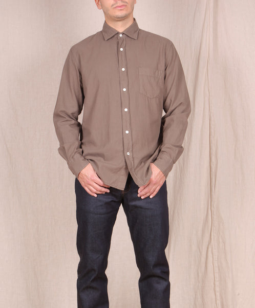 Hartford-Garment Dyed Flannel Button Down // VISON