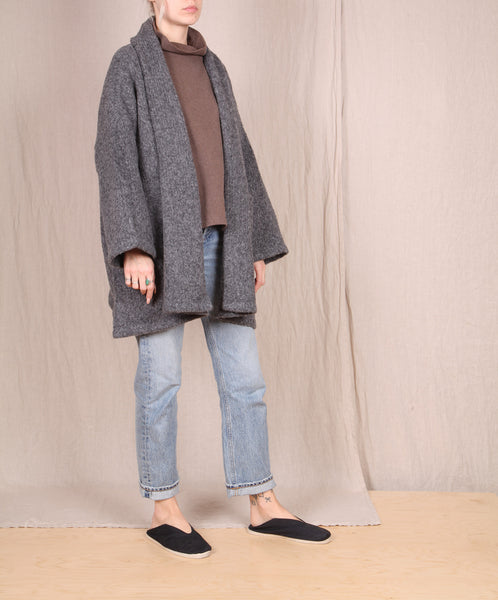 Atelier Delphine-Haori Sweater Coat // CHARCOAL