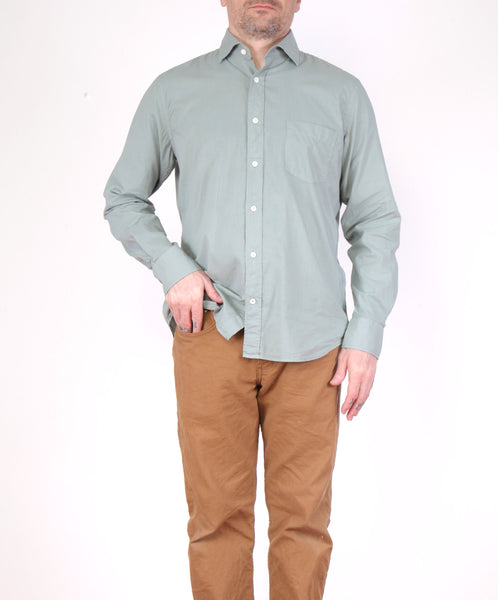 Hartford-L/S Cotton Voile Button Down