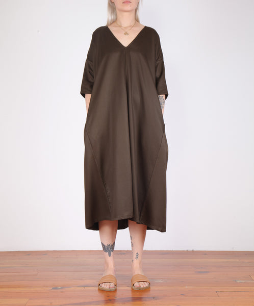 Ali Golden-Kimono Dress W/ Pockets