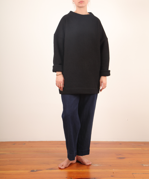Hackwith-Mockneck Tunic Sweater