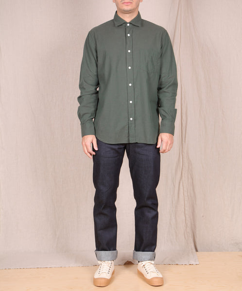 Hartford-Flannel Button Down // Dark Green