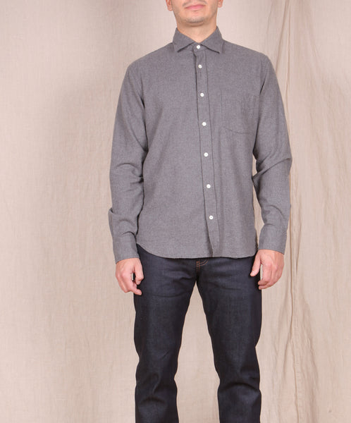 Hartford-Flannel Button Down // GREY
